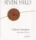 seven hills winery cabernet sauvignon columbia valley 2015 label 120x134 - Seven Hills Winery 2015 Cabernet Sauvignon, Columbia Valley, $30