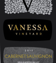 vanessa vineyard cabernet sauvignon 2015 label 199x223 - Vanessa Vineyard 2015 Cabernet Sauvignon, Similkameen Valley, $80