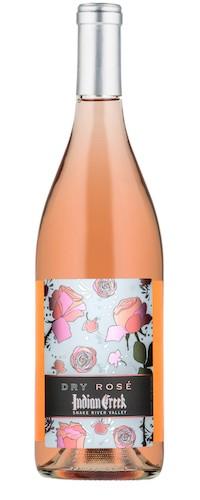 indian creek dry rose nv bottle - Indian Creek Winery 2017 Dry Rosé, Snake River Valley, $16