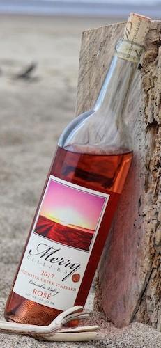 merry cellars stillwater creek vineyard rose 2017 bottle - Merry Cellars 2017 Stillwater Creek Vineyard Rosé, Columbia Valley, $24