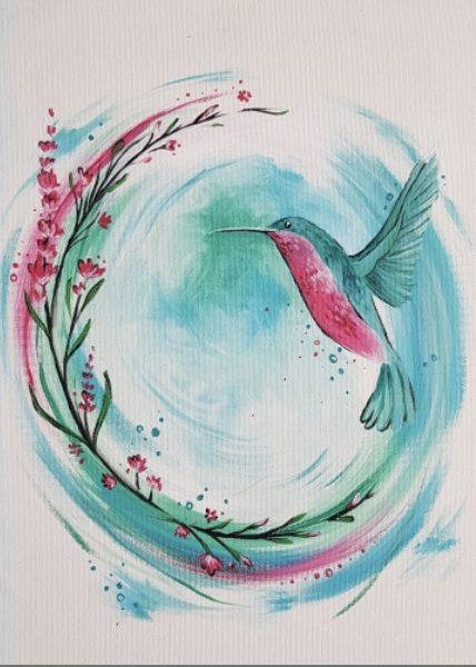 PaintNite Little Hummingbird - PaintNite - Little Hummingbird