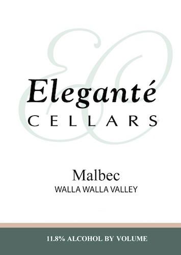 elegante cellars malbec nv label 1 1 - Eleganté Cellars 2014 Malbec, Walla Walla Valley $36
