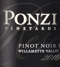 ponzi vineyards pinot noir reserve 2016 label 199x223 - Ponzi Vineyards 2016 Pinot Noir Reserve, Willamette Valley, $65