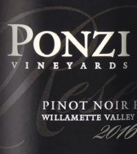 ponzi vineyards pinot noir reserve 2016 label 199x223 - Ponzi Vineyards 2016 Pinot Noir Reserve, Willamette Valley, $65