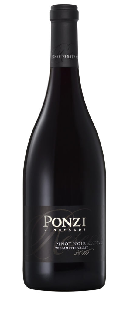ponzi vineyards reserve pinot noir 2016 bottle 428x1024 - Ponzi Vineyards 2016 Pinot Noir Reserve, Willamette Valley, $65