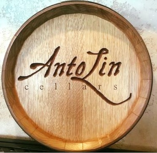 ALC CC Photo Barrel Sign Brite - AntoLin Cellars benefit evening with Bart Roderick, Rondi Marsh and Friends