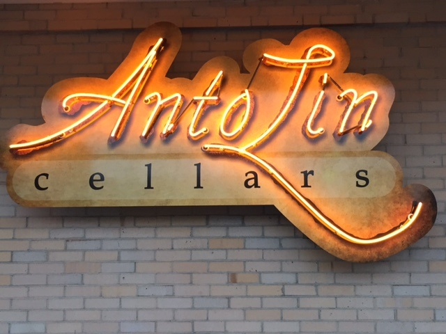 ALC CC Photo Neon Sign Exterior - First Friday at AntoLin Cellars with Moonglow