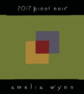 amelia wynn winery pinot noir 2017 label 120x134 - Amelia Wynn Winery 2017 Pinot Noir, Oregon State, $36