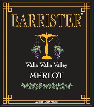 barrister winery nv merlot label - Barrister Winery 2015 Merlot, Walla Walla Valley, $33