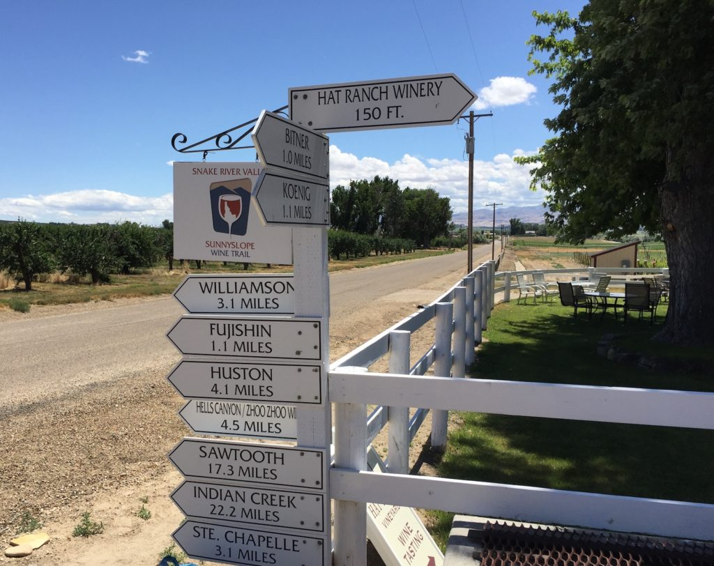hat ranch winery post sign 1024x812 - Koenig wins Idaho Wine Competition for new owners