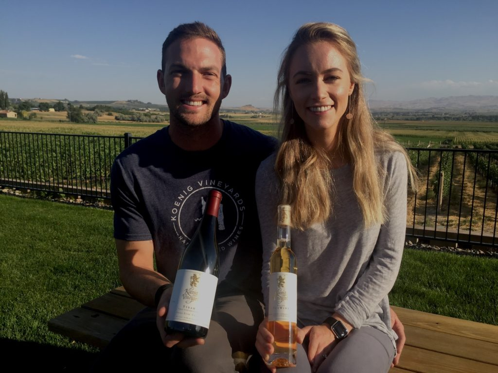 james nederend sydney nederend koenig vineyards eric degerman 1024x768 - Koenig wins Idaho Wine Competition for new owners