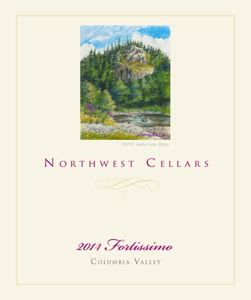 northwest cellars fortissimo red wine 2014 label - Northwest Cellars 2014 Fortissimo Red Wine, Columbia Valley, $24