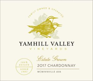 Yamhill Valley Vineyards 2017 Estate Chardonnay, McMinnville