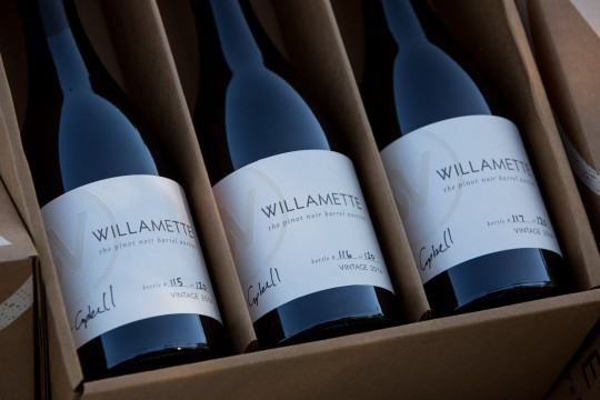 Willamette Pinot Noir Auction bottles - Flagship releases for Cliff Creek Cellars in Newberg