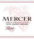 mercer estates spice cabinet vineyard rose 2018 label 120x134 - Mercer Estates 2018 Spice Cabinet Vineyard Rosé, Horse Heaven Hills, $15