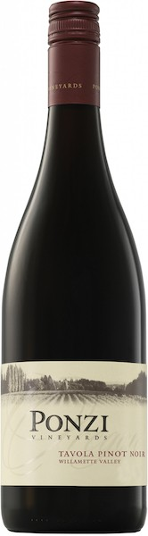 ponzi vineyards tavola pinot noir nv bottle - Ponzi Vineyards 2017 Tavola Pinot Noir, Willamette Valley, $27