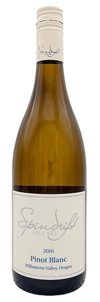 spindrift cellars pinot blanc 2016 bottle - Spindrift Cellars 2016 Pinot Blanc, Willamette Valley, $18