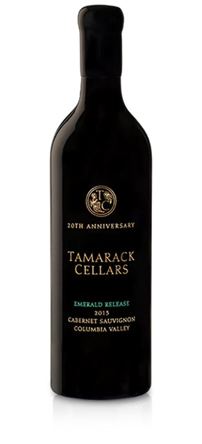 tamarack cellars emerald release 20th anniversary cabernet sauvignon 2013 bottle - Tamarack Cellars 2013 Emerald Release 20th Anniversary Cabernet Sauvignon, Columbia Valley $100
