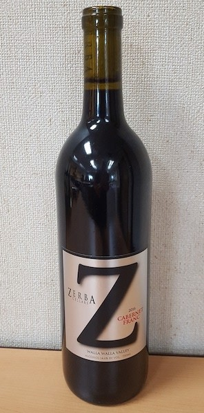 zerba cellars cabernet franc 2016 bottle - Zerba Cellars 2016 Cabernet Franc, Walla Walla Valley $36