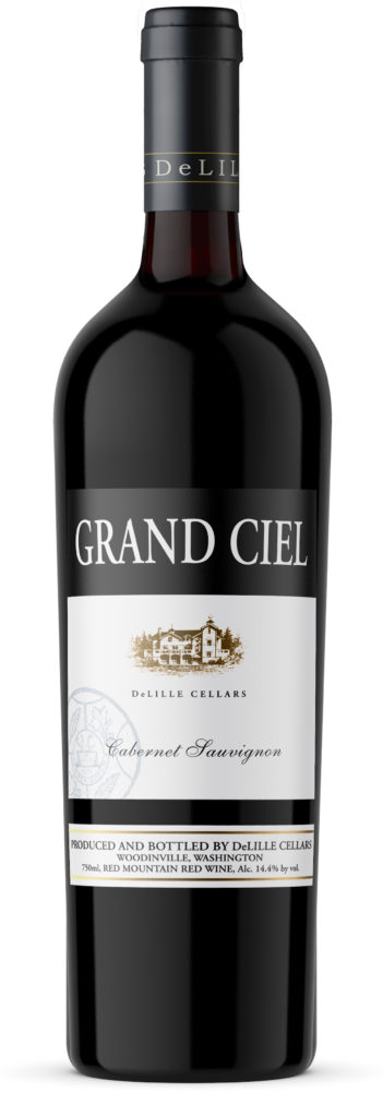 deLille cellars grand ciel cabernet sauvignon nv bottle 351x1024 - DeLille Cellars 2015 Grand Ciel Cabernet Sauvignon, Red Mountain, $160