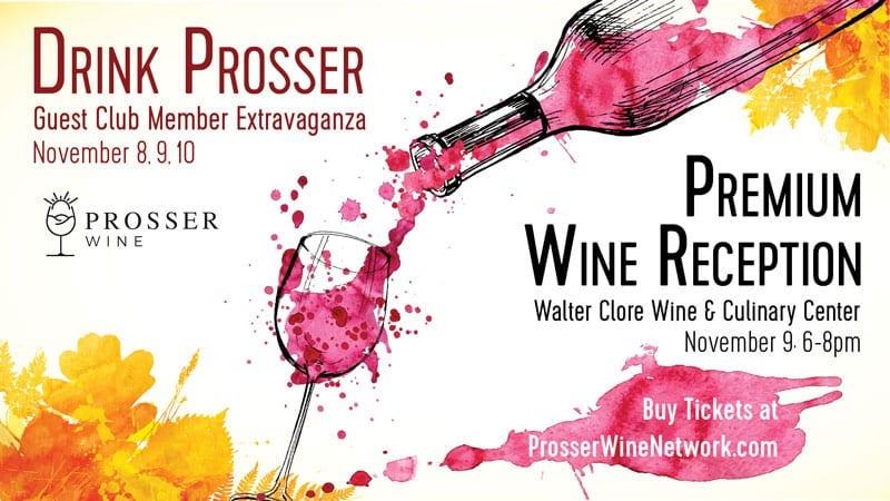 drink prosser premium wine reception 2019 poster - Drink Prosser Premium Wine Reception