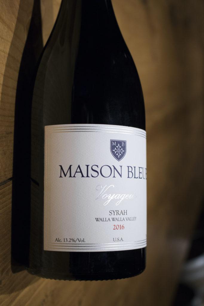 maison bleue winery voyageur syrah 2016 bottle 683x1024 - Maison Bleue Winery 2016 Voyageur Syrah, Walla Walla Valley, $50