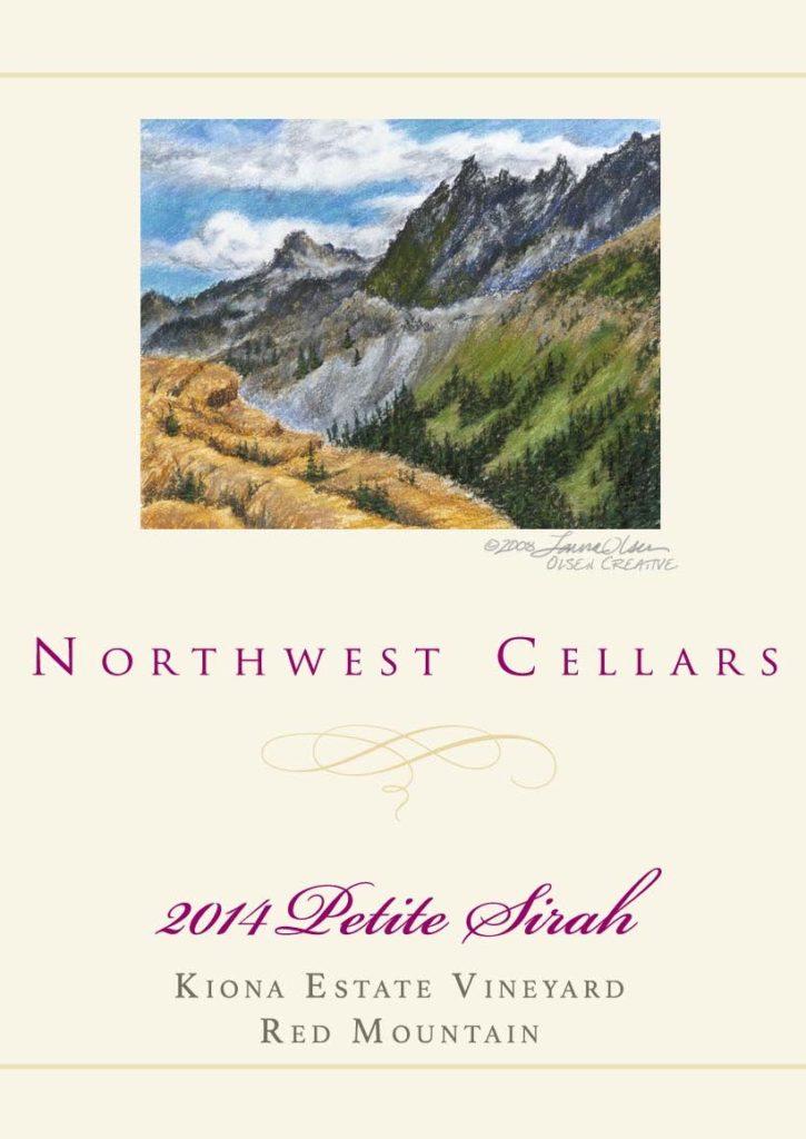 northwest cellars kiona estate vineyard petite sirah 2014 bottle 725x1024 - Northwest Cellars 2014 Kiona Vineyard Petite Sirah, Red Mountain, $36