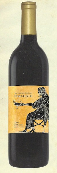 wind rose cellars omaggio barbera 2014 bottle - Wind Rose Cellars 2014 Omaggio Barbera, Red Mountain $33