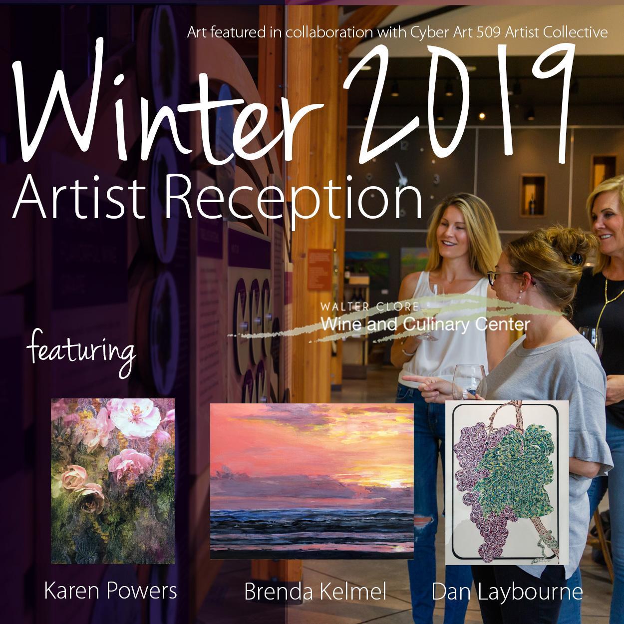 Winter19ArtistReceptionSquare - Cyber Art 509 artist reception at the Clore Center