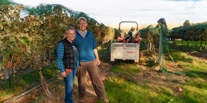 jennifer armstrong tim armstrong family vineyard walla walla valley 700x350 - Armstrong Family Winery turns Discovery Vineyard Syrah into best wine at Great Northwest Invitational