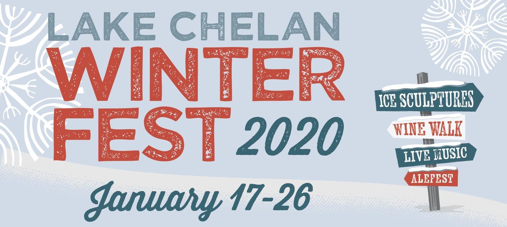 lake chelan winter fest 2020 poster - Lake Chelan Winterfest
