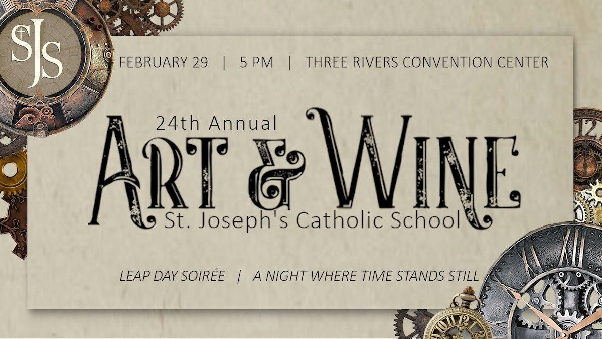 st joseph art and wine poster 2020 - St. Joseph's Art and Wine