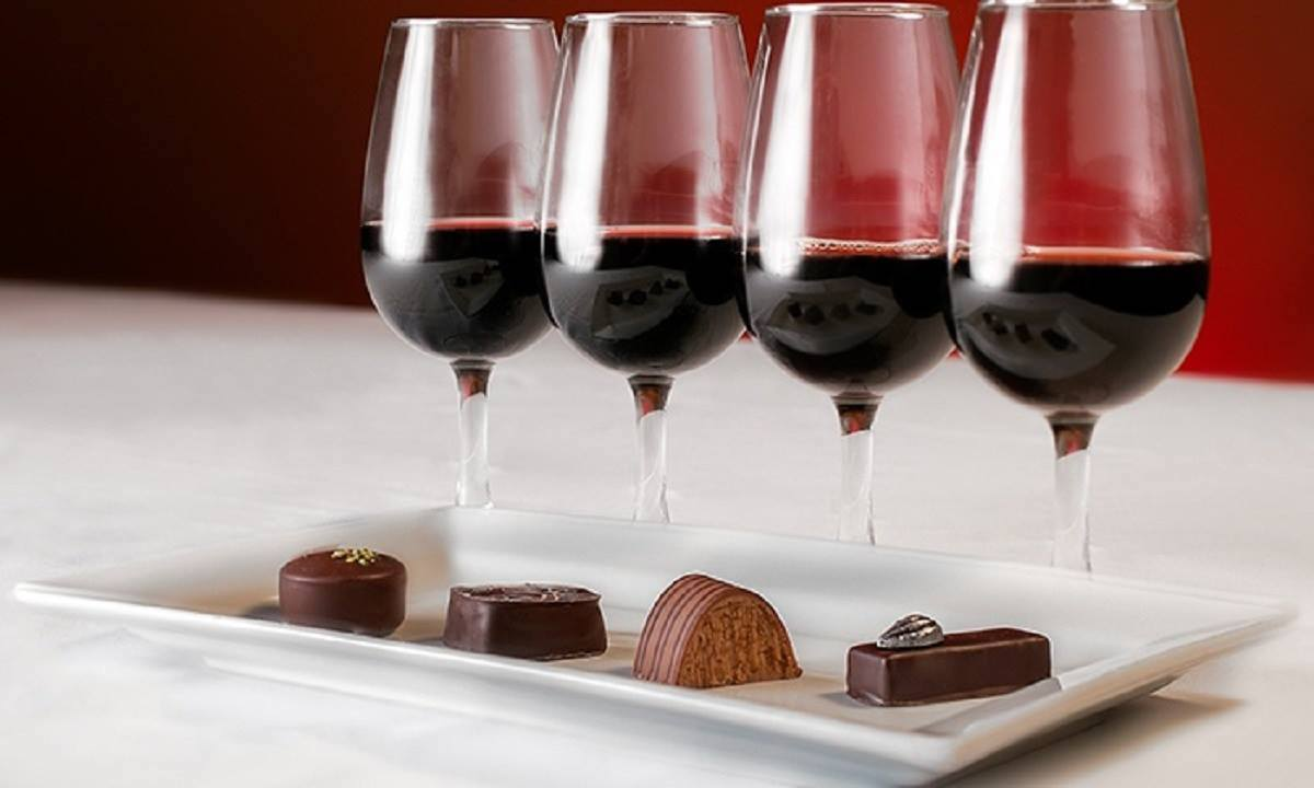 wineries of bainbridge island wine on the rock wine and chocolate poster - Wine on the Rock: Wine and Chocolate