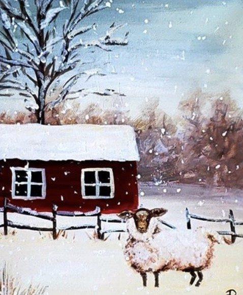 3329 photo 238590 - Corks and Canvas with Barnyard Snow at Sigillo Cellars