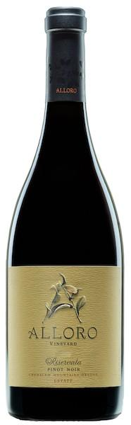 alloro vineyard estate riservata pinot noir nv bottle - Alloro Vineyard 2015 Estate Riservata Pinot Noir, Chehalem Mountains, $50