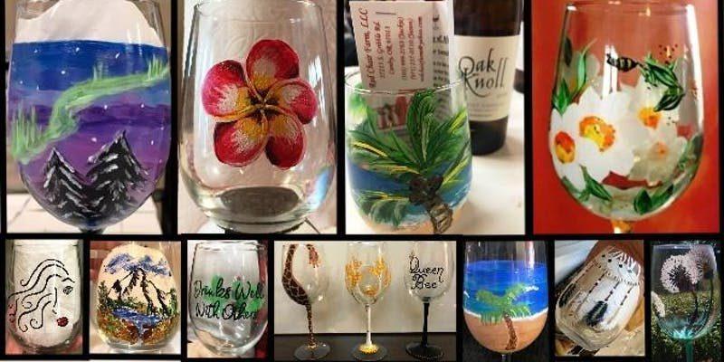 3275 photo 238734 - Wine glass painting class at Oak Knoll Winery
