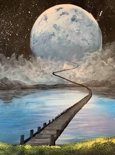 3275 photo 239261 - Paint Nite Day at Oak Knoll Winery features 'To the Moon and Back III'
