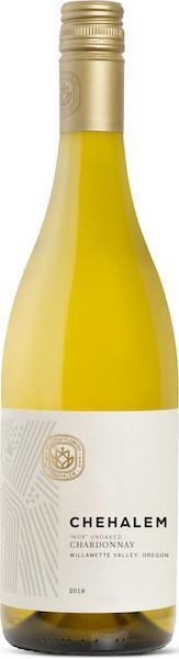 chehalem wines inox unoaked chardonnay 2018 bottle - Chehalem Wines 2018 INOX Unoaked Chardonnay, Willamette Valley, $20