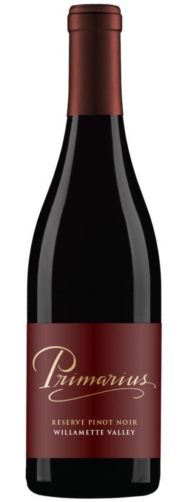 primarius reserve pinot noir nv bottle 384x1024 - Primarius Winery 2015 Reserve Pinot Noir, Willamette Valley, $21