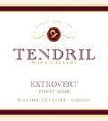 tendril wine cellars extrovert nv label 120x134 - Tendril Wine Cellars 2015 Extrovert Pinot Noir, Willamette Valley, $52