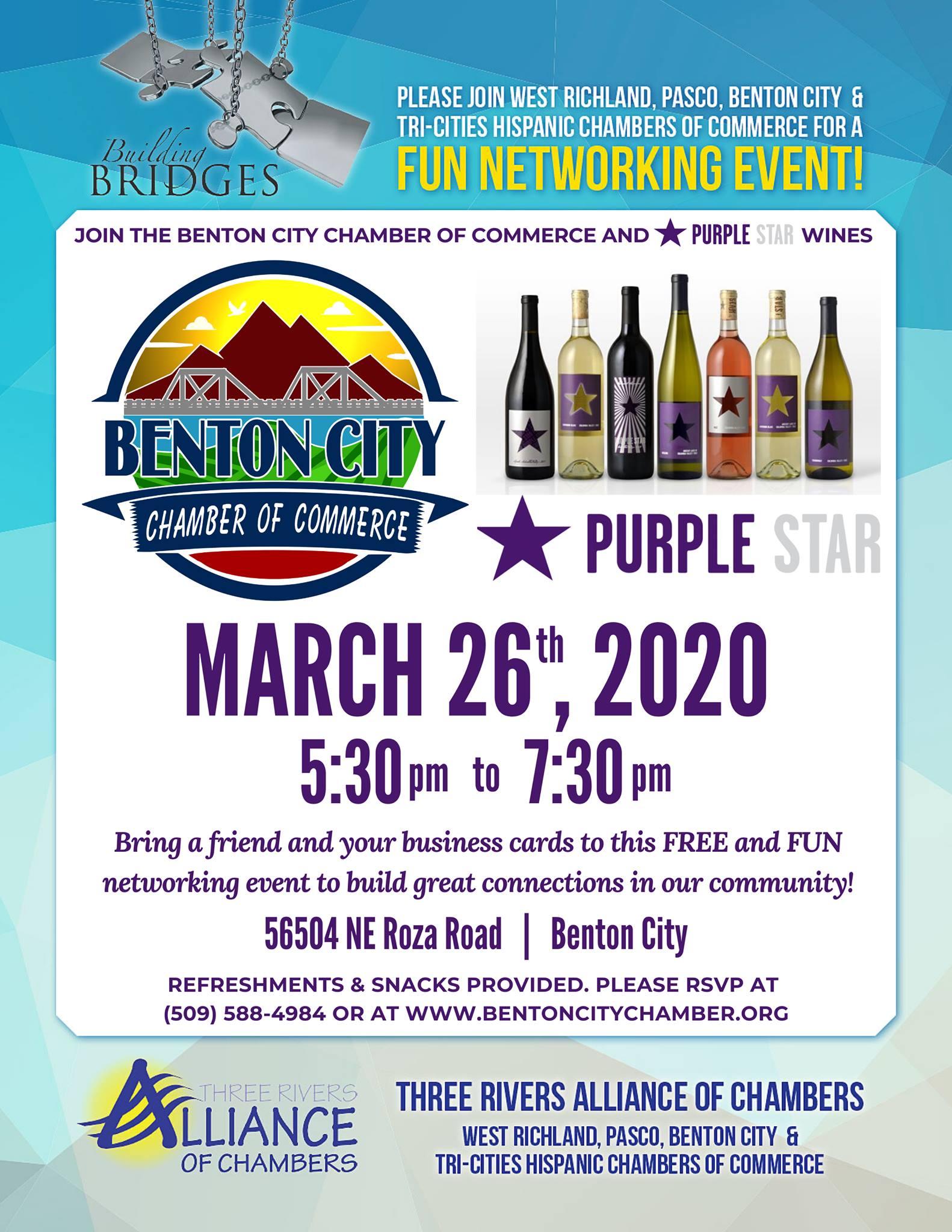 Buildingbridgesmarch26 - Building Bridges networking event at Purple Star Wines