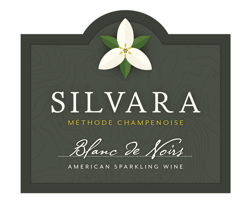 Silvara Sparkling Wine front label 4x3.5 in - Affair of the Heart: Valentine's wine tasting at Silvara Cellars