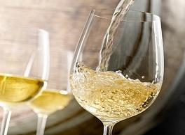 White Blending Glass - Chardonnay blending seminar at Bryn Mawr Vineyards