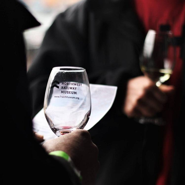 Wine Glass at Wine Traincroppedsmall - Washington Wine Industry Foundation 2020 Party + Auction