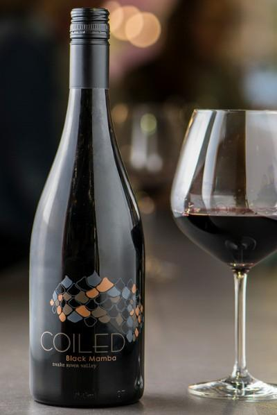 coiled wines black mamba nv bottle - Coiled Wines 2017 Black Mamba Red Wine, Snake River Valley $32