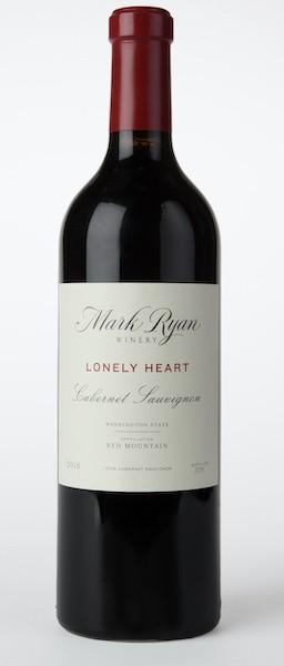 mark ryan winery lonely heart cabernet sauvignon 2016 bottle - Mark Ryan Winery 2016 Lonely Heart Cabernet Sauvignon, Red Mountain, $95