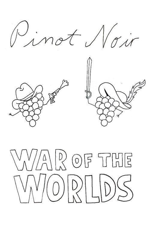 pinot noir war of the worlds sunday school poster - Sunday School presents Pinot Noir: War of the Worlds at Hazelfern Cellars