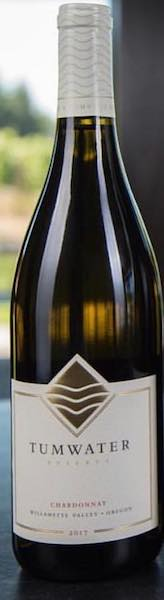 tumwater vineyard chardonnay 2017 bottle - Tumwater Vineyard 2017 Barrel Select Chardonnay, Willamette Valley, $40