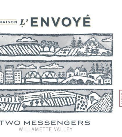 maison l envoye two messengers 2017 label 420x470 - Maison L'Envoyé 2017 Two Messengers Pinot Noir, Willamette Valley $30