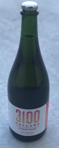 3100 cellars runoff rose sparkling wine 2016 bottle - 3100 Cellars 2016 Runoff Rosé Sparkling Wine, Snake River Valley, $36